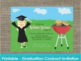 Diy Graduation Party Invitations Graduation Cookout Party Invitation Diy Printable