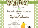 Diy Jungle theme Baby Shower Invitations Baby Shower Jungle theme Invitations