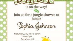 Diy Jungle theme Baby Shower Invitations Baby Shower Jungle theme Invitations