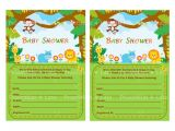 Diy Jungle theme Baby Shower Invitations Diy Safari Shower Invite Diy Jungle Baby Shower Invitation