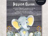 Diy Jungle theme Baby Shower Invitations Elephant Baby Shower Invitation Boy Baby Shower Invitation