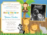 Diy Jungle theme Baby Shower Invitations Safari Jungle Animals Baby Shower Invitation by Jcbabycakes