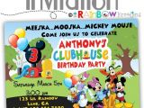 Diy Mickey Mouse Party Invitations 206 Diy Mickey Mouse Clubhouse Party Invitation or Thank