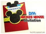 Diy Mickey Mouse Party Invitations 29 Mickey Mouse Birthday Party Ideas Spaceships and