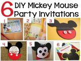 Diy Mickey Mouse Party Invitations 70 Mickey Mouse Diy Birthday Party Ideas About Family