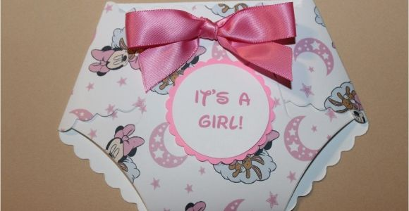 Diy Minnie Mouse Baby Shower Invitations Diy Printed Minnie Mouse Print Baby Shower Diaper