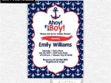 Diy Nautical Baby Shower Invitations Baby Shower Invitation 5×7 Nautical Baby Shower Diy Printable