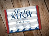 Diy Nautical Baby Shower Invitations Diy Printable Baby Ahoy Nautical Baby Shower Invitation
