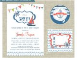 Diy Nautical Baby Shower Invitations Items Similar to Nautical themed Baby Shower Invitation