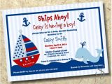 Diy Nautical Baby Shower Invitations Nautical Baby Boy Shower Invitation Diy