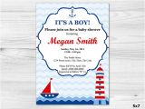Diy Nautical Baby Shower Invitations Nautical Baby Boy Shower Invitation Diy Printable Custom