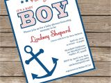 Diy Nautical Baby Shower Invitations Printable or Printed Nautical Baby Shower Invitation Lovely