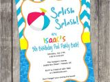 Diy Pool Party Invitation Ideas Beach Ball Pool Party Invitation Diy by Pinksugarpartyshop
