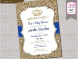 Diy Prince Baby Shower Invitations Baby Shower Invitation Prince Crown Royal Blue by