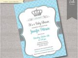 Diy Prince Baby Shower Invitations Items Similar to Baby Shower Invitation Prince Crown for
