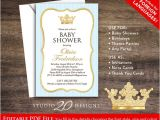 Diy Prince Baby Shower Invitations Prince Baby Shower Invitations Editable Pdf Diy 4×6 Printable
