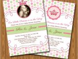 Diy Princess Baby Shower Invitations Items Similar to Little Princess Baby Shower Invitations