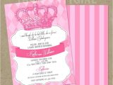 Diy Princess Baby Shower Invitations Royal Princess Baby Shower Party Invitations Diy by