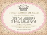 Diy Princess Baby Shower Invitations Vintage Princess Baby Shower Invitation Birthday Surprise
