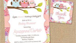 Diy Printable Baby Shower Invitations Owl Baby Shower Invitations Diy Printable Baby by Poofyprints