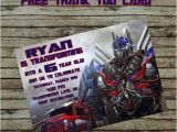 Diy Transformer Birthday Invitations Transformer Birthday Invitation Diy Custom order