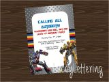 Diy Transformer Birthday Invitations Transformers Autobots Customizable Birthday Invitation Diy