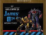 Diy Transformer Birthday Invitations Transformers Birthday Party Pack Diy · Splashbox
