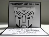 Diy Transformer Birthday Invitations Transformers Pop Up Invitations