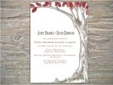 Diy Tree Wedding Invitations Autumn Rustic Tree Invitation Printable Diy for Fall