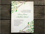 Diy Tree Wedding Invitations Items Similar to Diy Printable Wedding Invitation Tree