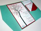 Diy Tree Wedding Invitations Wedding Invitation Diy Pocketfold Heart Tree Printable