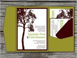 Diy Tree Wedding Invitations Wedding Invitation Diy Pocketfold Tall Tree Printable