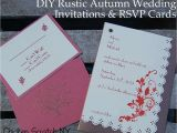 Diy Wedding Invitations and Rsvp Cards Diy Autumn Wedding Invitations
