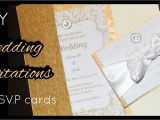 Diy Wedding Invitations and Rsvp Cards Diy How to Make Elegant Gold Wedding Invitations Rsvp