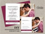 Diy Wedding Invitations and Rsvp Cards Diy Photo Wedding Invitation with Rsvp Card Printable Wedding