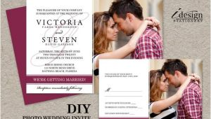 Diy Wedding Invitations and Rsvp Cards Diy Photo Wedding Invitation with Rsvp Card Printable Wedding