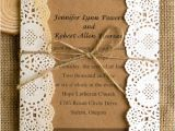 Diy Wedding Invitations with Lace Classic Rustic Lace Square Wedding Invitations Ewls009 as