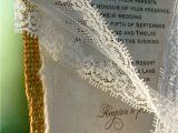 Diy Wedding Invitations with Lace Diy Lace and Real Burlap Wedding Invitation Rustic Barn