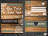 Diy Woodsy Wedding Invitations Diy Printable Rustic Barn Wood Lace Wedding Invitation