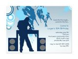 Dj Party Invitation Templates 65 Best Dj Party Invitations Images On Pinterest