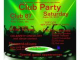 "Dj Party Invitation Templates Club Dj Party Invitation 5 25"" Square Invitation Card"