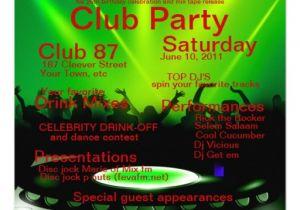 """Dj Party Invitation Templates Club Dj Party Invitation 5 25"""" Square Invitation Card"""