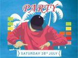 Dj Party Invitation Templates Free Dj Summer Party Invitation Template In Adobe