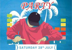 Dj Party Invitation Templates Free Dj Summer Party Invitation Template In Adobe