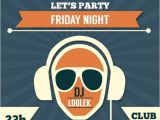 Dj Party Invitation Templates Party Invitation Dj Template Vector