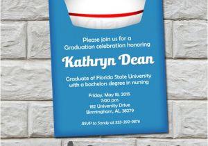 Do It Yourself Graduation Invitations Nurse Graduation Invitation Do It Yourself Digital Print