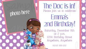 Doc Mcstuffins Birthday Invitation Template Doc Mcstuffins Birthday Invitation