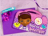 Doc Mcstuffins Invitations Party City Doc Mcstuffins Invite with Favor Idea Party City Party