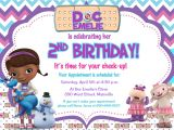 Doc Mcstuffins Party Invites Doc Mcstuffins Birthday Party Invitation by Prettypaperpixels