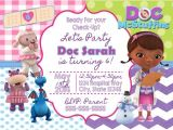 Doc Mcstuffins Party Invites Doc Mcstuffins Digital Birthday Invitation